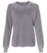 8626 - Women's Lazy Day Burnout French Terry Crewneck Sweatshirt