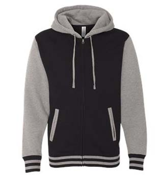 Unisex Varsity Hooded Full-Zip Sweatshirt